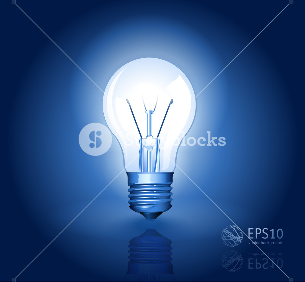1000x923 Electric Light Bulb Vector Abstract. Royalty Free Stock Image