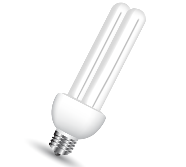 600x540 Energy Saving Light Bulb Vector Free 123freevectors