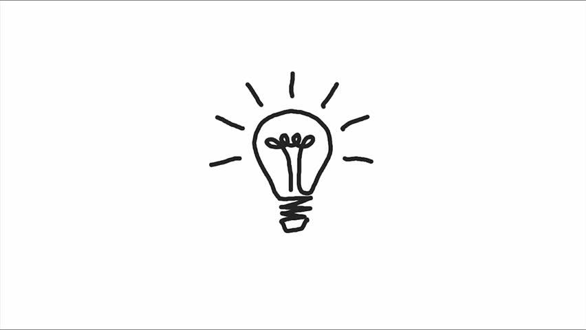 852x480 Drawn Hand Light Bulb 3343317