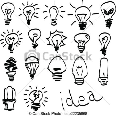 450x450 Drawn Hand Light Bulb
