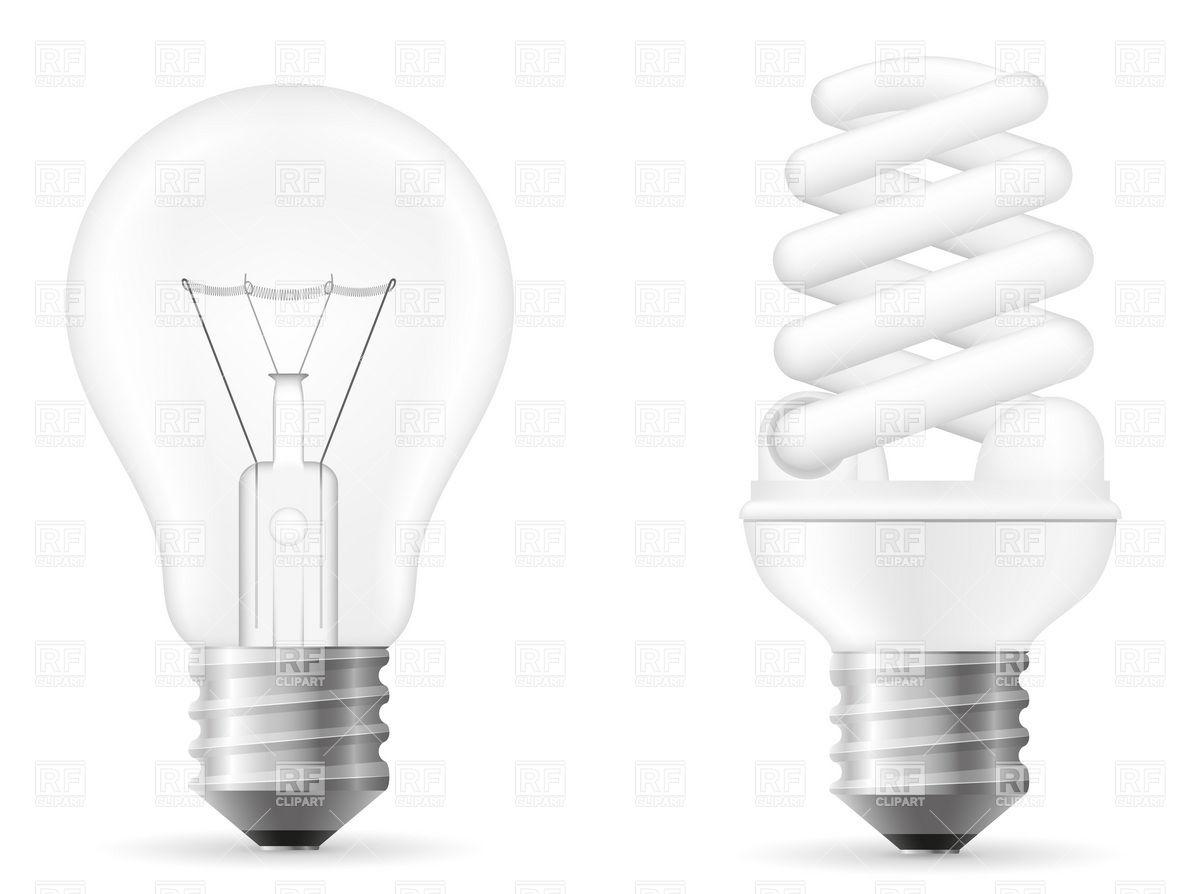 1200x894 Filament And Fluorescent Light Bulbs Vector Image Vector Artwork