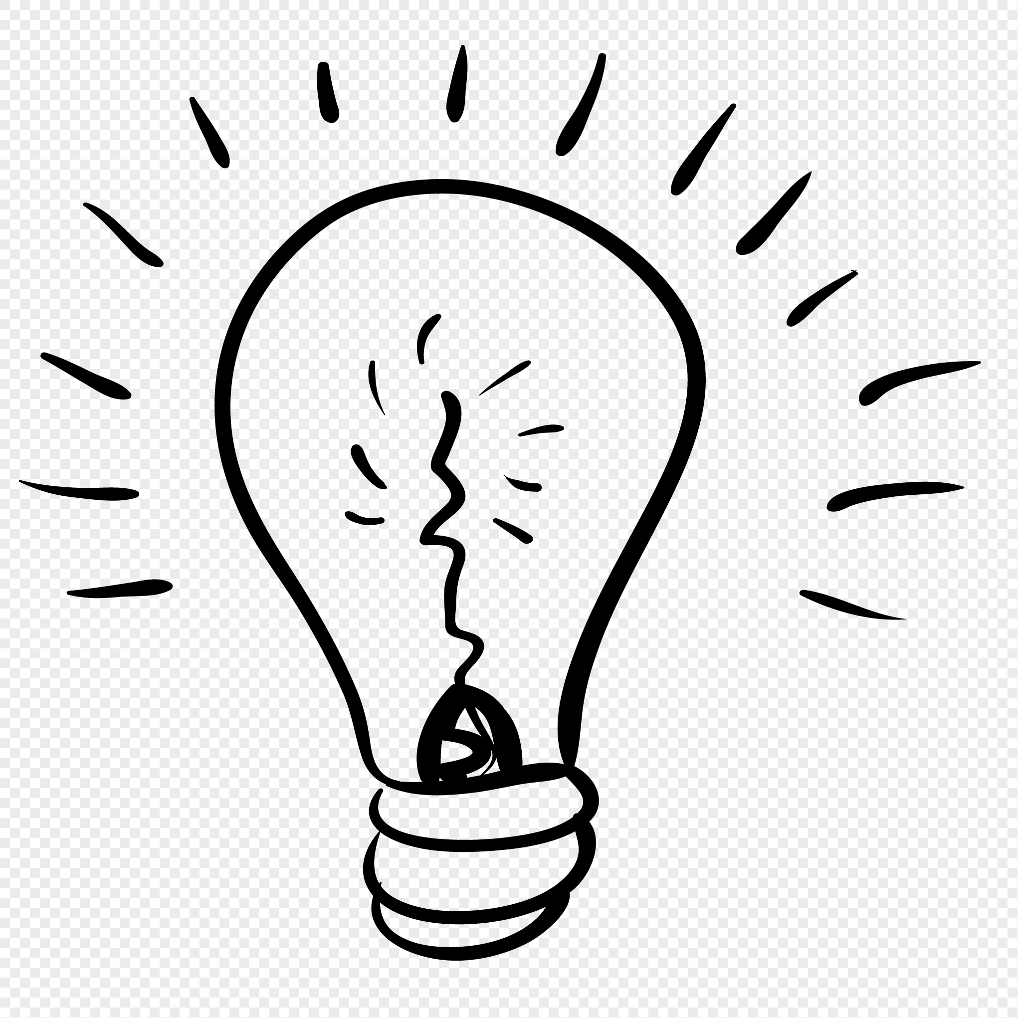 2041x2041 Hand Painted Bulb Vector Png Image Picture Free Download