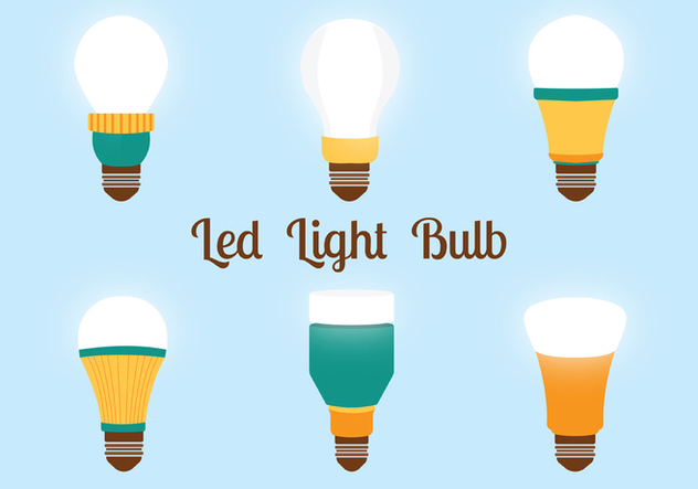 632x443 Led Lights Bulbs Vector Pack Free Vector Download 446305 Cannypic