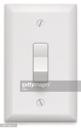 329x523 Light Switch On White Vector Illustration Premium Clipart