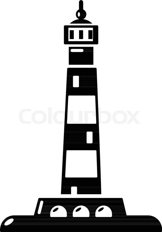 560x800 Ocean Lighthouse Icon. Simple Illustration Of Ocean Lighthouse