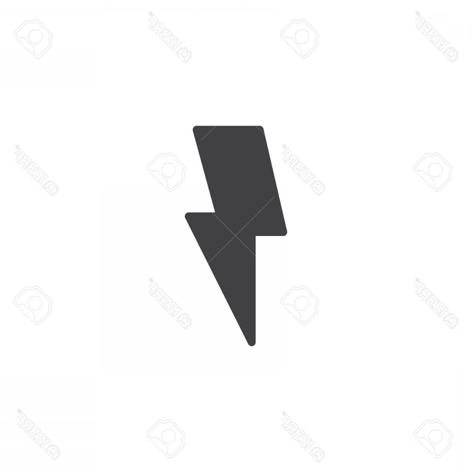 Realistic Lightning Bolt Vector