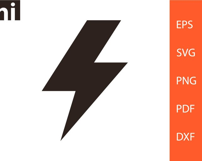 642x514 Lightning Bolt Lightning Bolt Svg Lightning Bolt Vector Etsy