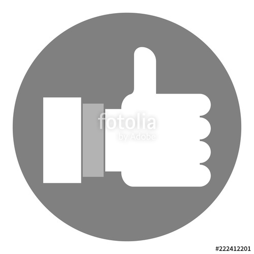 500x500 Like Button. Vector Icon. Stock Image And Royalty Free Vector