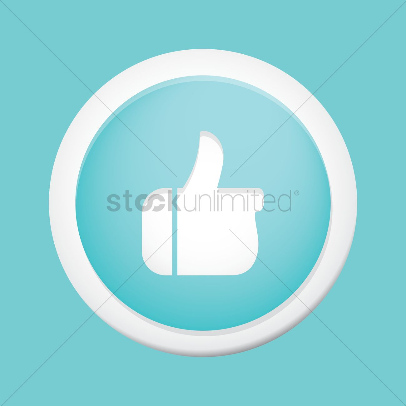 1300x1300 Thumb Up Like Button Vector Image