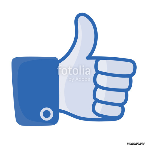 500x500 Thumb Up Vector, Like Button Stock Image And Royalty Free Vector