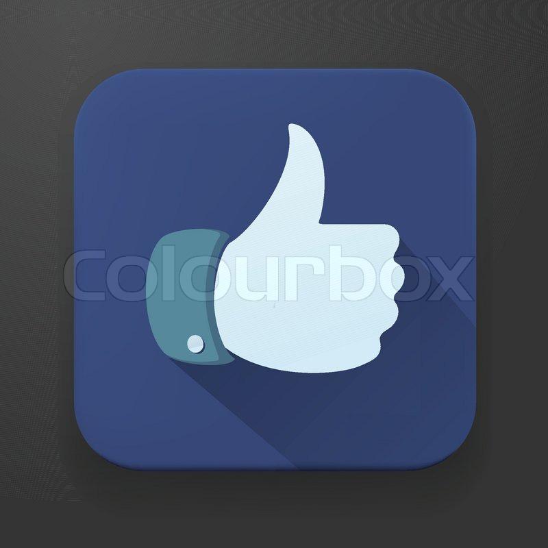 800x800 Flat Design Thumbs Up Button