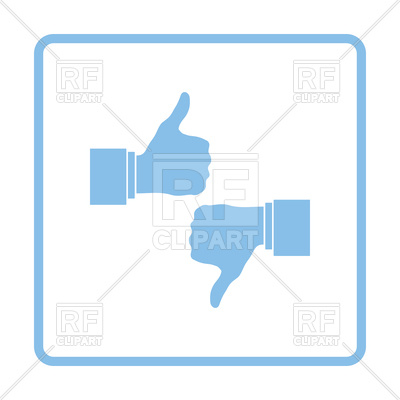 400x400 Like And Dislike Icon Vector Image Vector Artwork Of Icons And