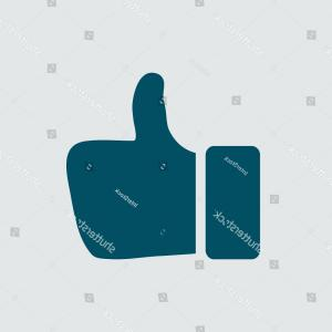 300x300 Photostock Vector Like Icon Hand Finger Up Sign Thumb Up Symbol