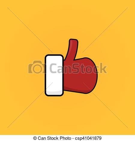 450x469 Santa Claus Like Icon Vector Illustration. Thumbs Up Santa Symbol.