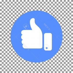 300x300 Flat Like Icon Concept Vector Stylish Social Media Like Hand Icon