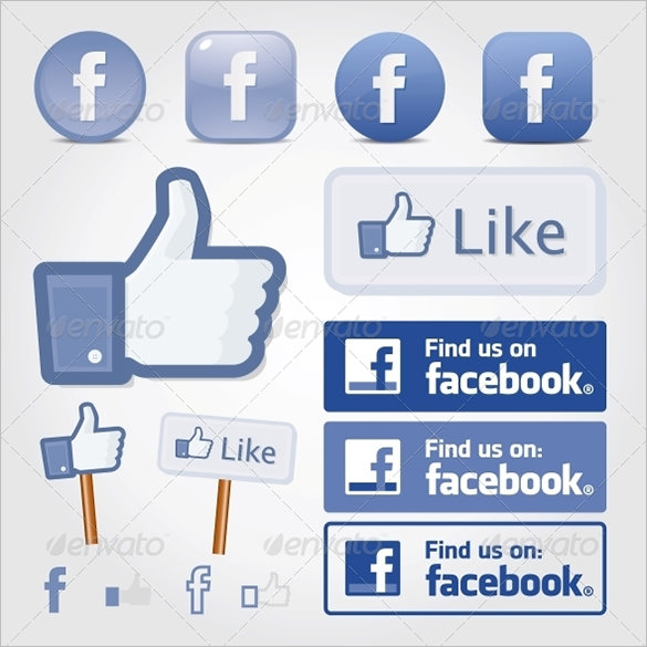 Like On Facebook Vector