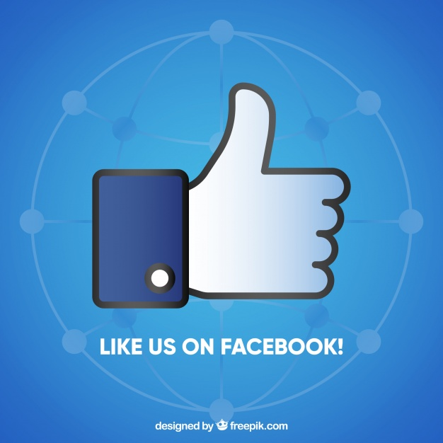 626x626 Facebook Background With Like Icon Vector Free Download