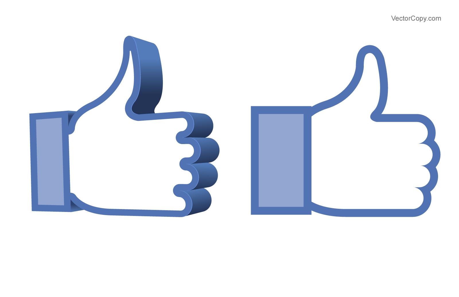 1600x1037 Like Us On Facebook Button Vector Art