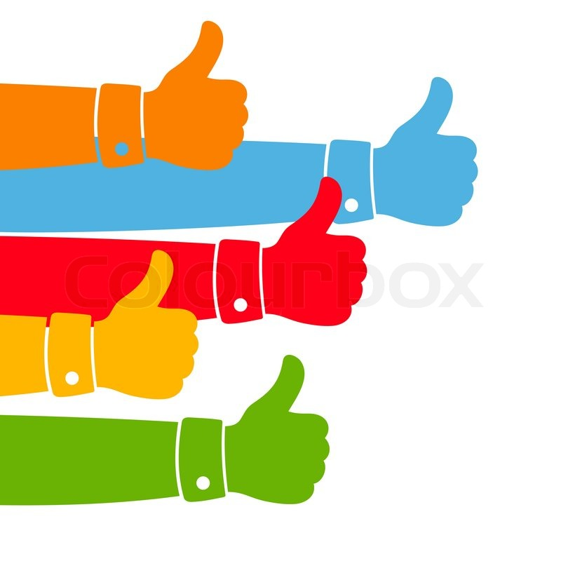 800x800 Like And Thumbs Up Illustration. Stock Vector Colourbox