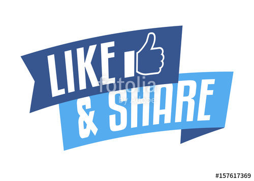 500x357 Like And Share Stock Image And Royalty Free Vector Files On
