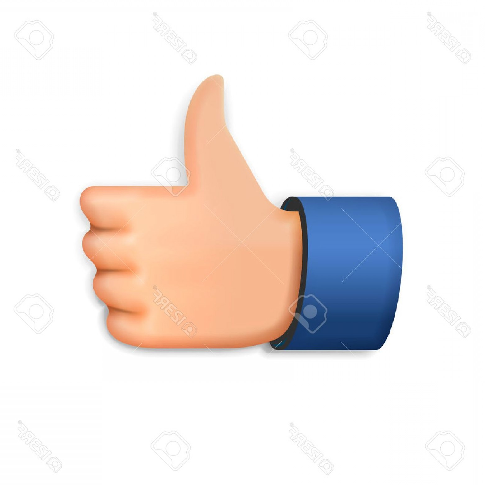 1560x1560 Photostock Vector Like Icon Emoji Thumb Up Symbol Vector