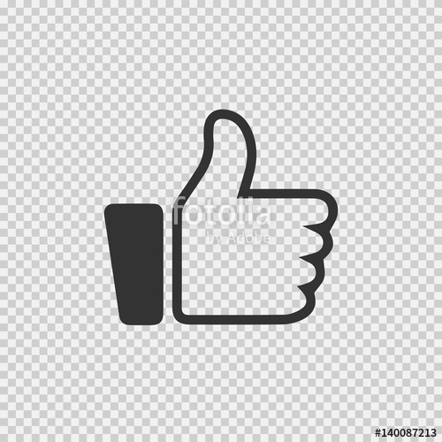 500x500 Thumb Up Vector Icon Eps 10. Like Simple Isolated Sign Symbol On
