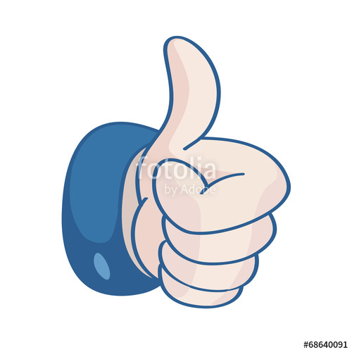 500x500 Thumb Up, I Like It (Vector) Stock Image And Royalty Free Vector