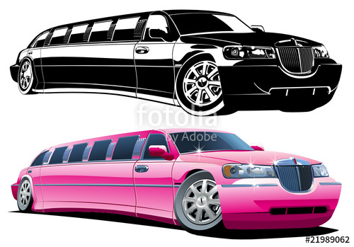 500x349 Vector Cartoon Limousine Stock Image And Royalty Free Vector