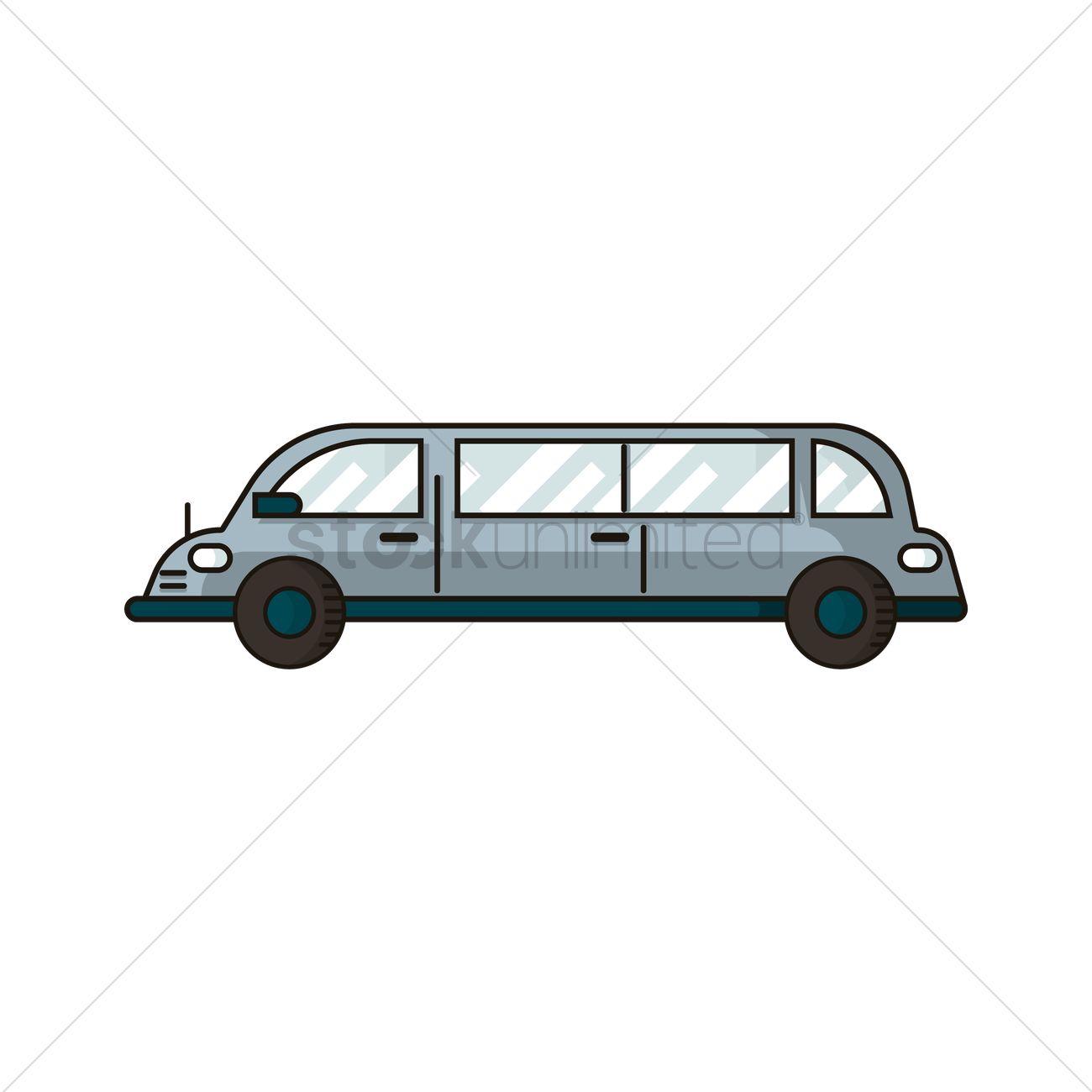 1300x1300 Limousine Vector Image