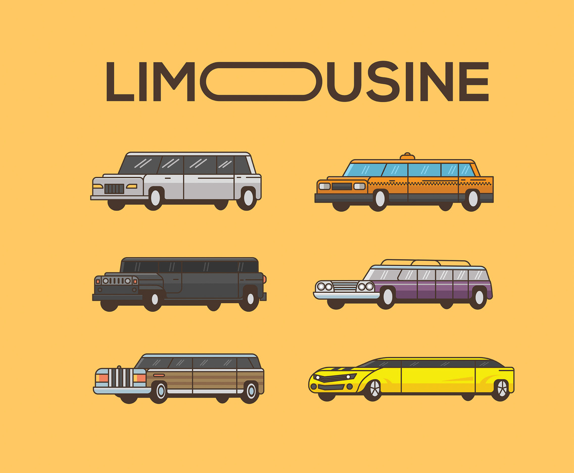 1136x936 Limousine Vector Orange Background Vector Art Amp Graphics