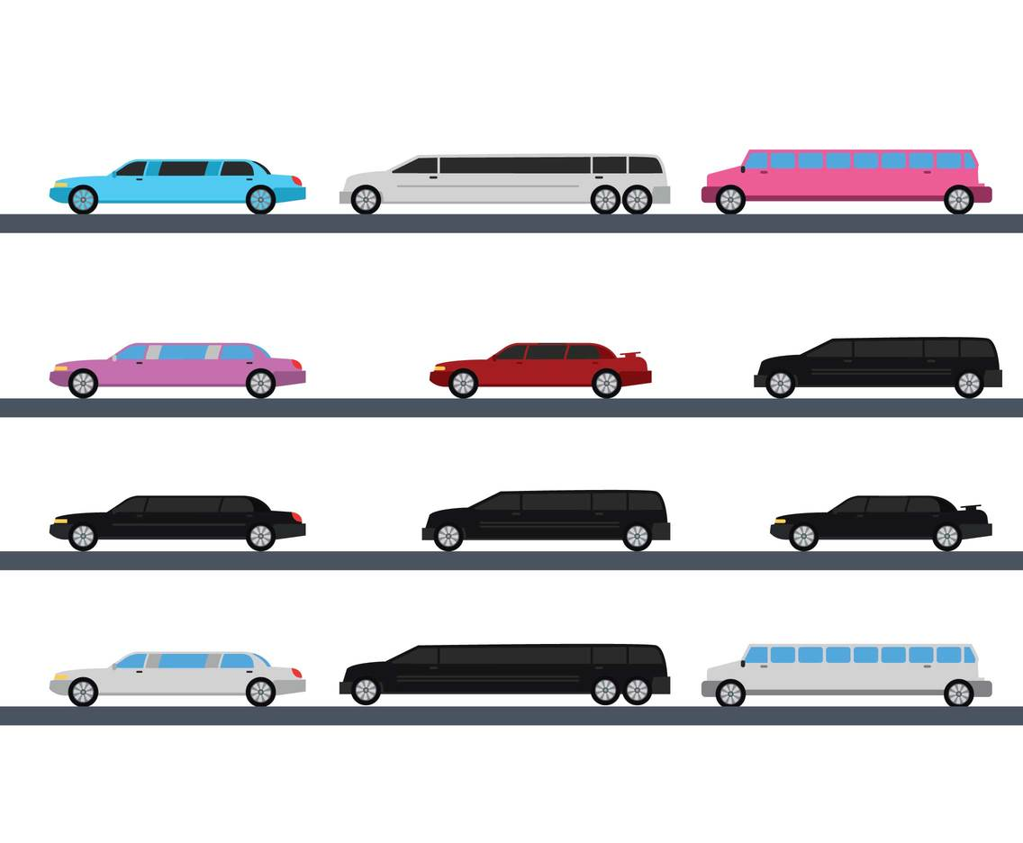 1136x936 Limousine Vector Set Vector Art Amp Graphics