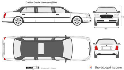 400x226 Cadillac Deville Limousine Vector Drawing