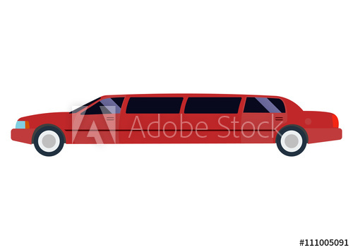 500x354 Limousine Vector Illustration Isolated