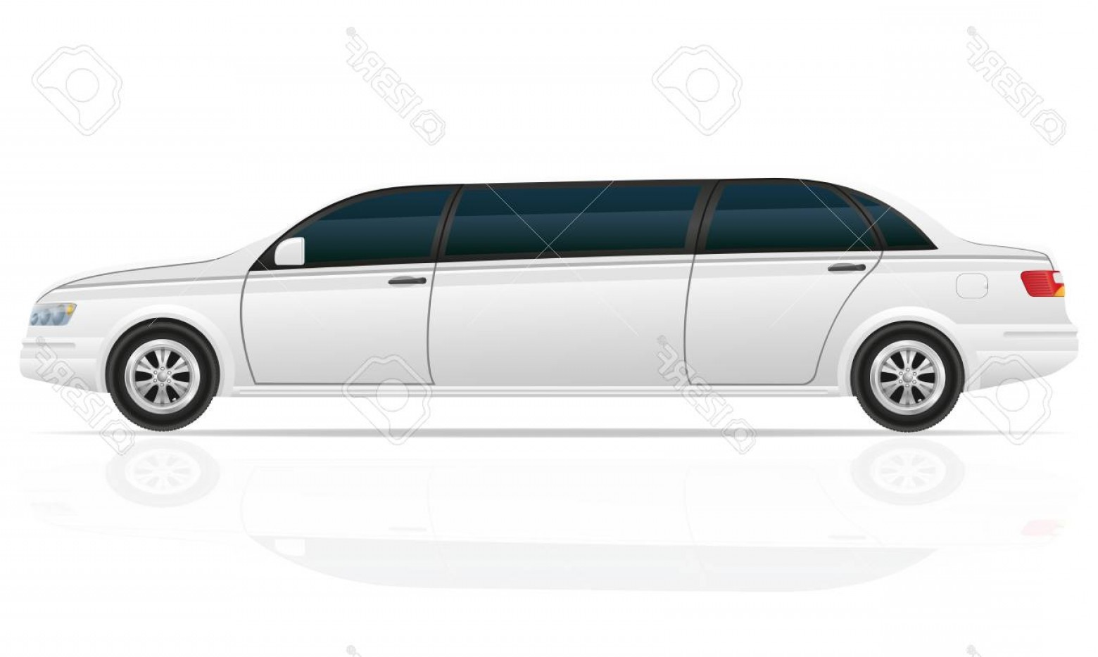 1560x934 Photostock Illustration Car Limousine Vector Illustration Isolated