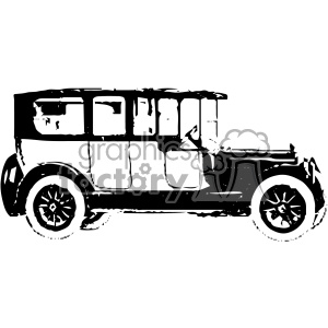 300x300 Royalty Free Old Vintage Distressed Limousine Car Retro Vector