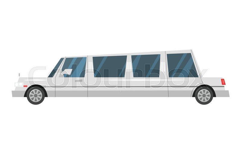 800x510 Vector Cartoon Style Illustration Of City Transport Limousine