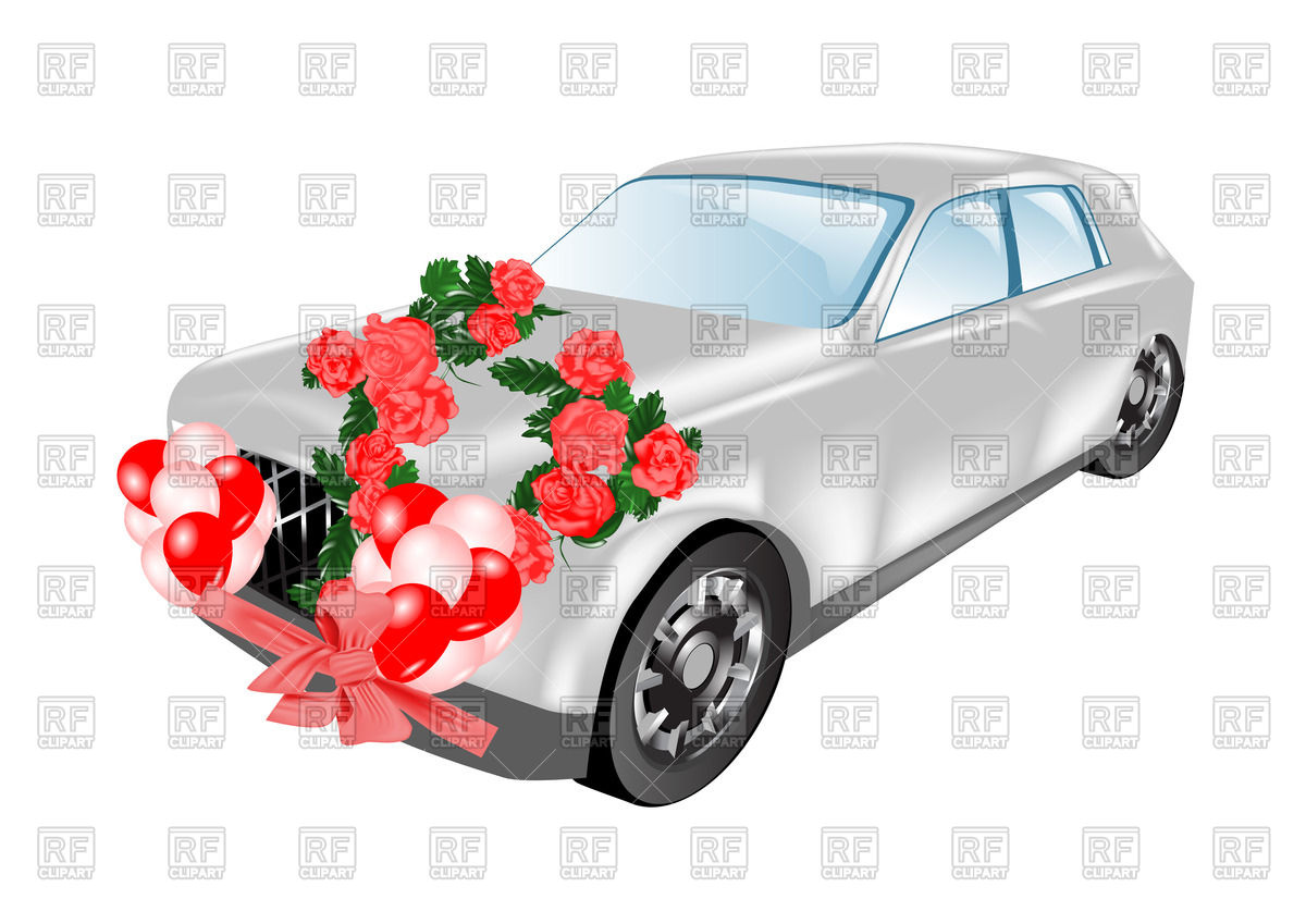 1200x849 Wedding Car (Limousine) Decorated With Flowers Vector Image