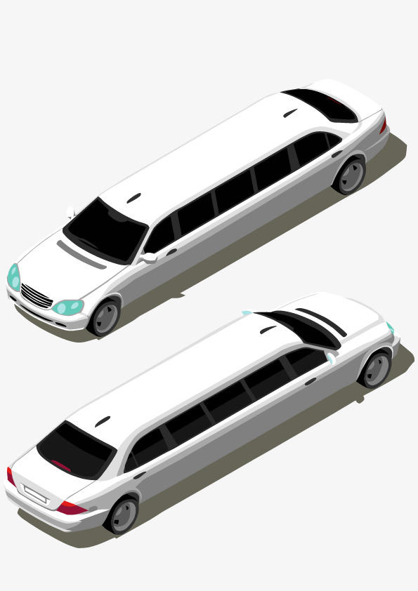 595x842 White Limousine, White, Lengthen, Lincoln Png And Vector For Free