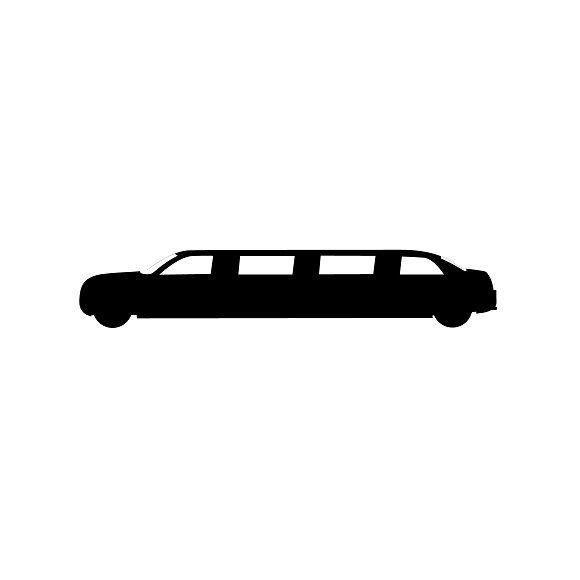 580x580 Icon Of Limousine. Vector Icons And Vector Graphics