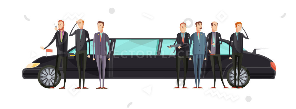 1000x370 Intelligence Agency Flat Composition Special Services Vector