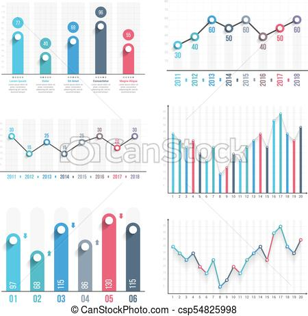 450x462 Graphs. Bar Graph And Line Graph Templates, Business Infographics