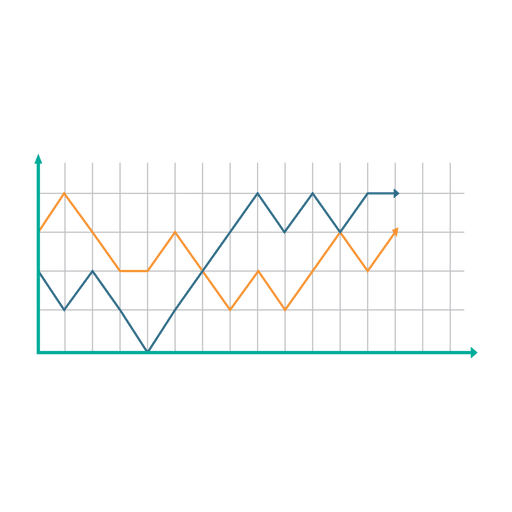 512x512 Growing Line Graph Chart