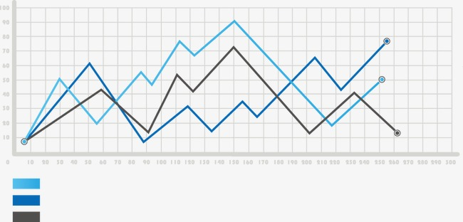 650x312 Vector Ppt Design Data Superimposed On A Line Graph, Line Vector