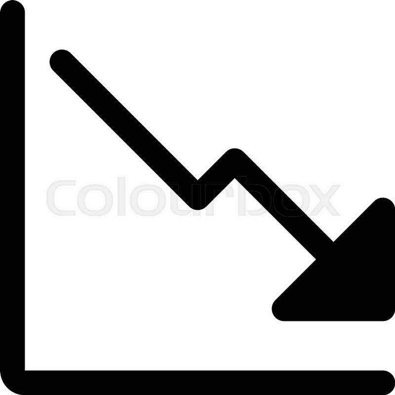 800x800 Downtrend Line Graph Stock Vector Colourbox