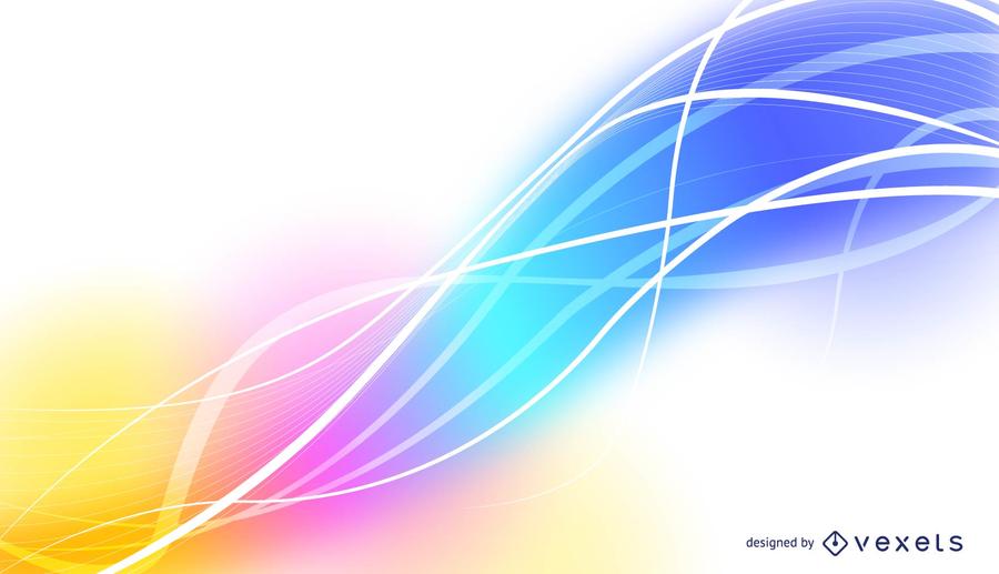 900x517 Fondo Abstracto Del Vector Con Ondas, Y Colores