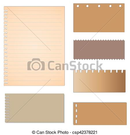 450x470 Set Of Paper Designs. Paper Sheets, Lined Paper And Note... Vector