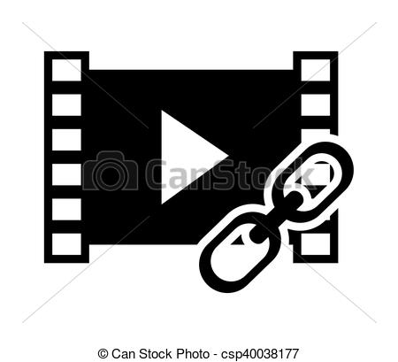 450x409 Video Strip And Link Icon. Video Strip And Link Icon Vector