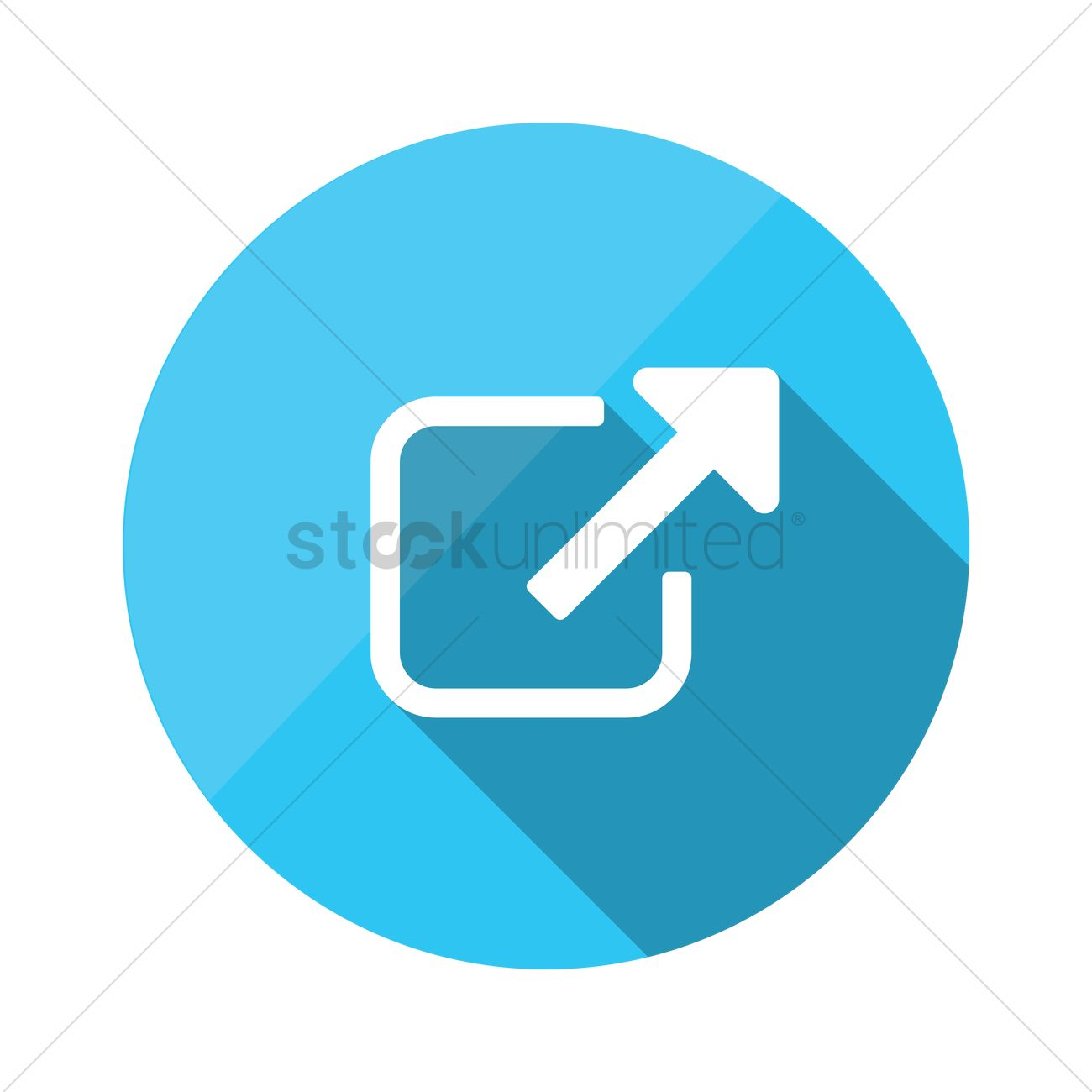 1300x1300 External Link Url Icon Vector Image