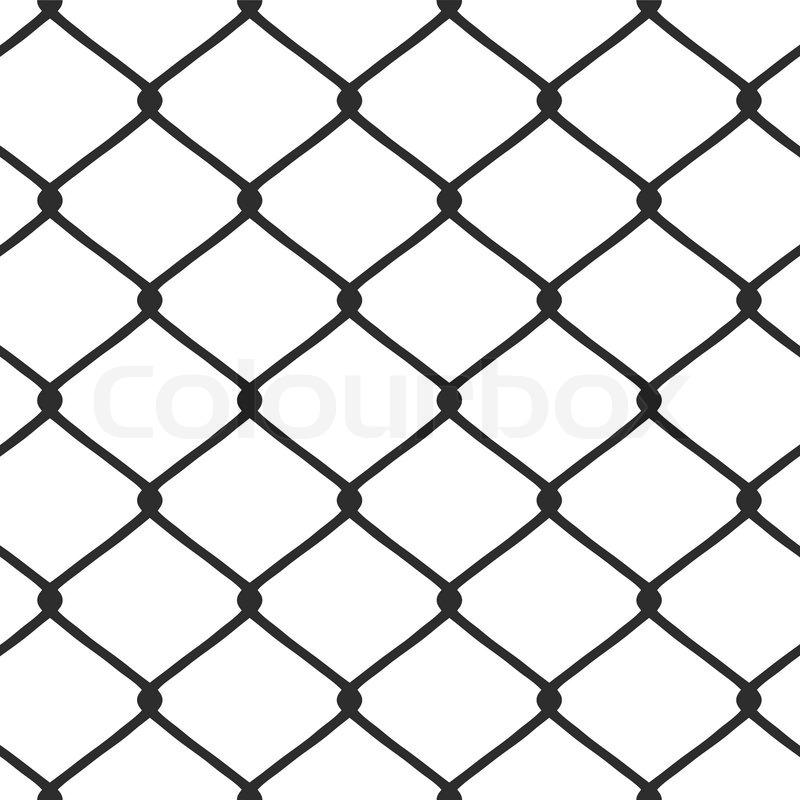 800x800 Chain Link Fence Vector Stock Vector Colourbox