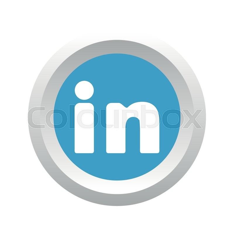 800x800 Linkedin Social Logo. Vector Stock Vector Colourbox
